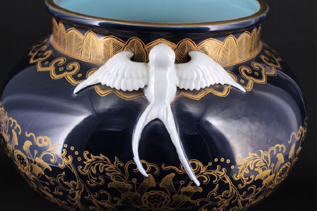 Large Chinese Qing Porcelain Famille Rose Jardine - 4