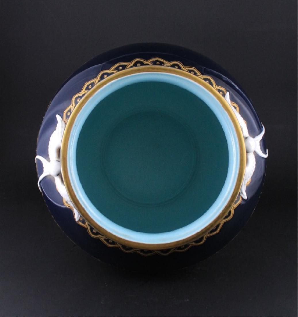 Large Chinese Qing Porcelain Famille Rose Jardine - 6
