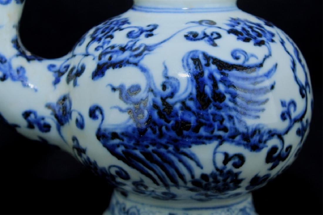 Chinese Ming Porcelain Blue&White TeaPot - 3