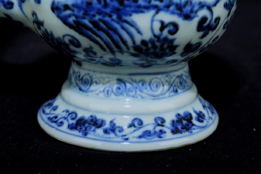 Chinese Ming Porcelain Blue&White TeaPot - 4