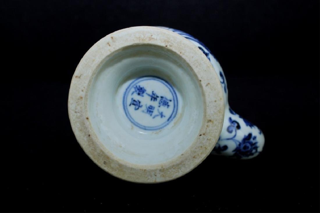 Chinese Ming Porcelain Blue&White TeaPot - 8