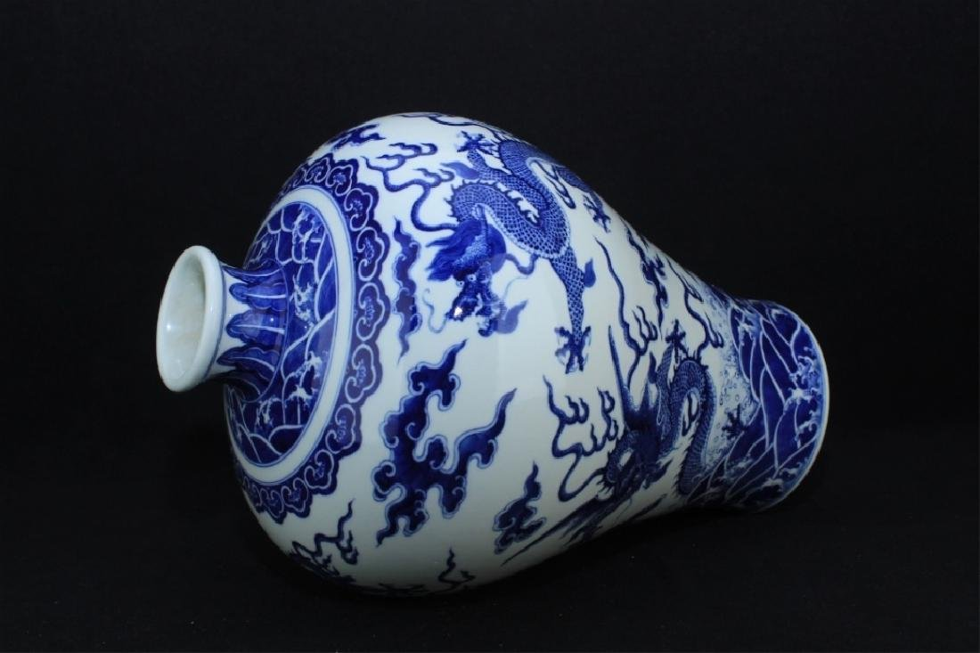 Large Chinese Qing Porcelain Blue&White Vase - 6