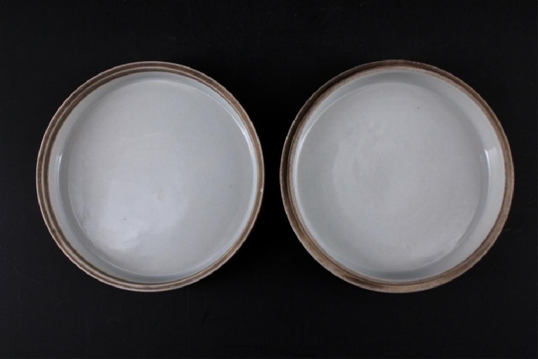 Chinese Qing Porcelain Famille Rose Circular Box - 4