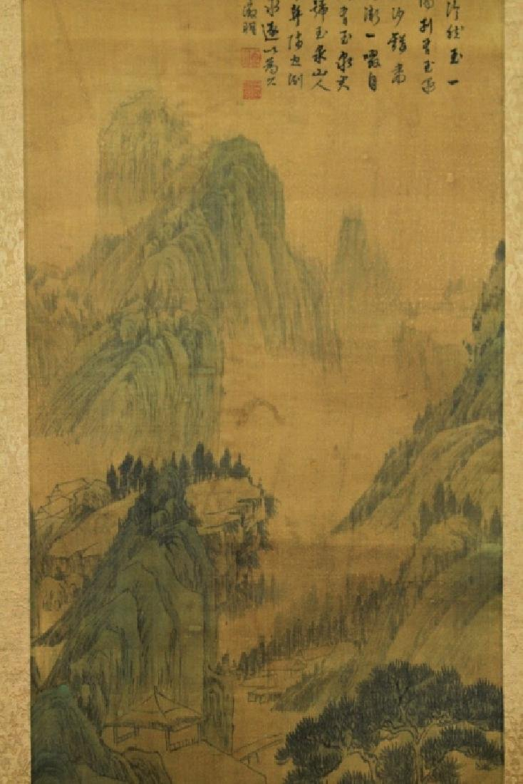 Chinese Scrolled Hand Painting Signed by Wen Zheng - 4