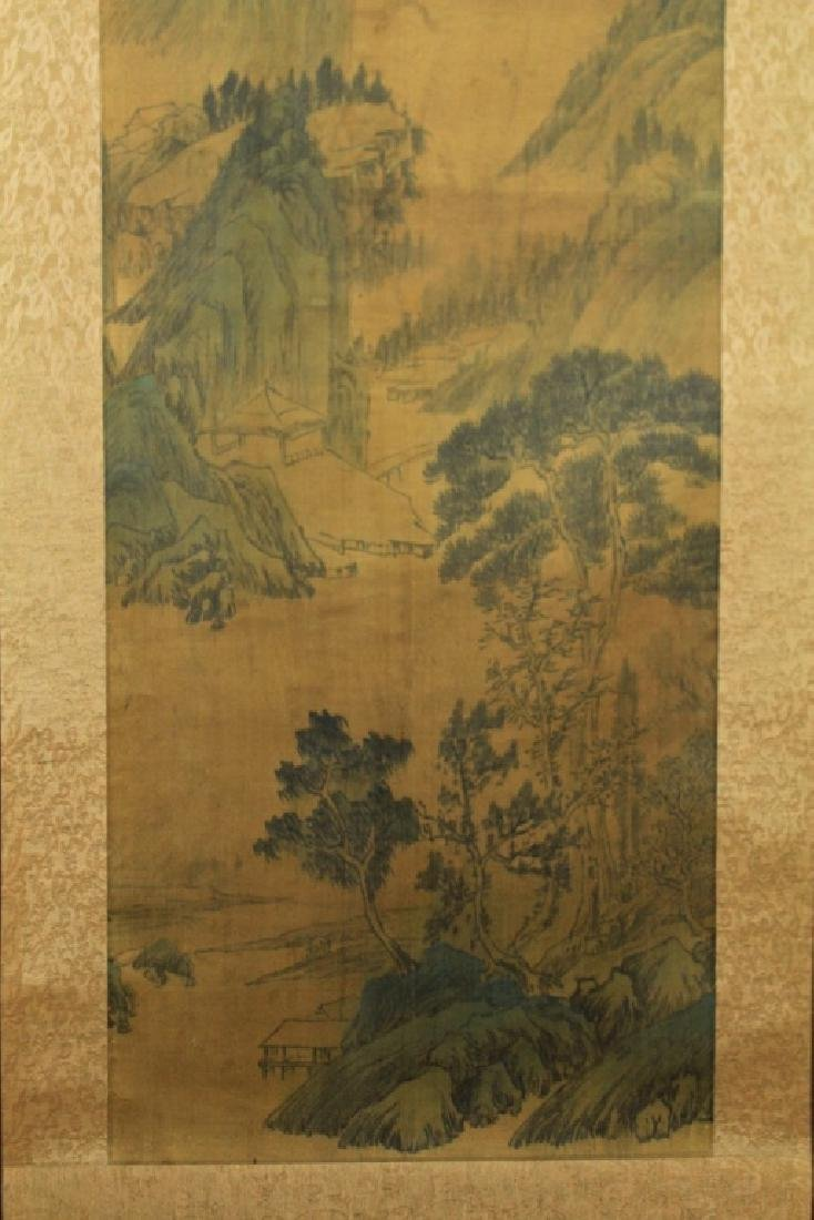 Chinese Scrolled Hand Painting Signed by Wen Zheng - 5