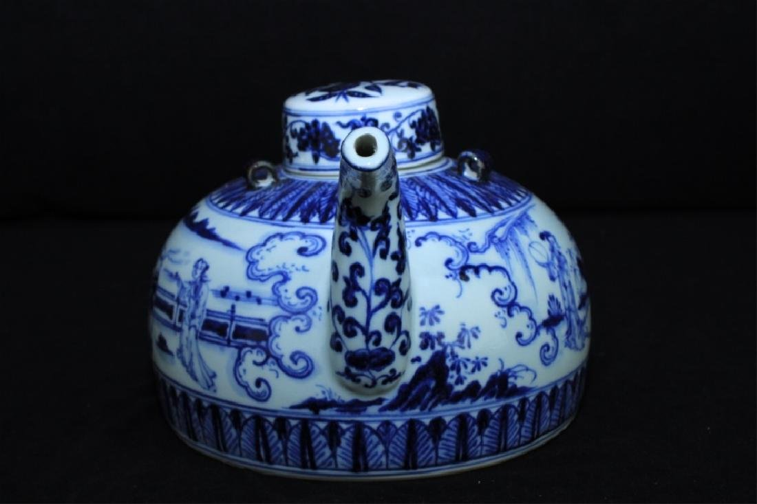 Chinese Ming Porcelain Blue&White Teapot - 6