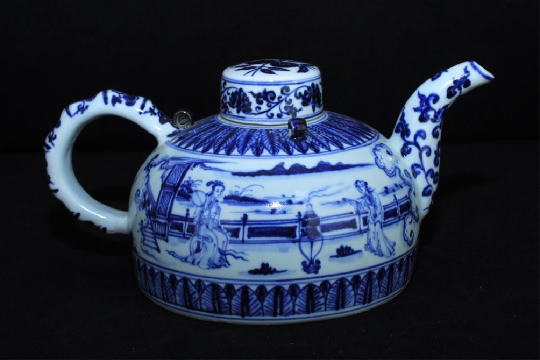 Chinese Ming Porcelain Blue&White Teapot - 7