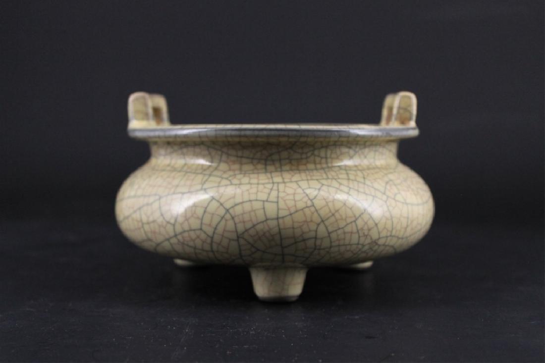 Chinese Song Porcelain GeYao Incense Burner