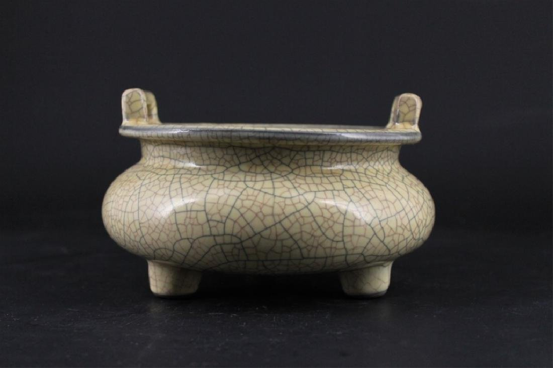 Chinese Song Porcelain GeYao Incense Burner - 2