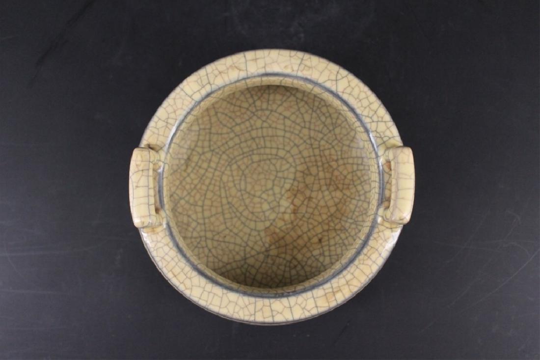 Chinese Song Porcelain GeYao Incense Burner - 3