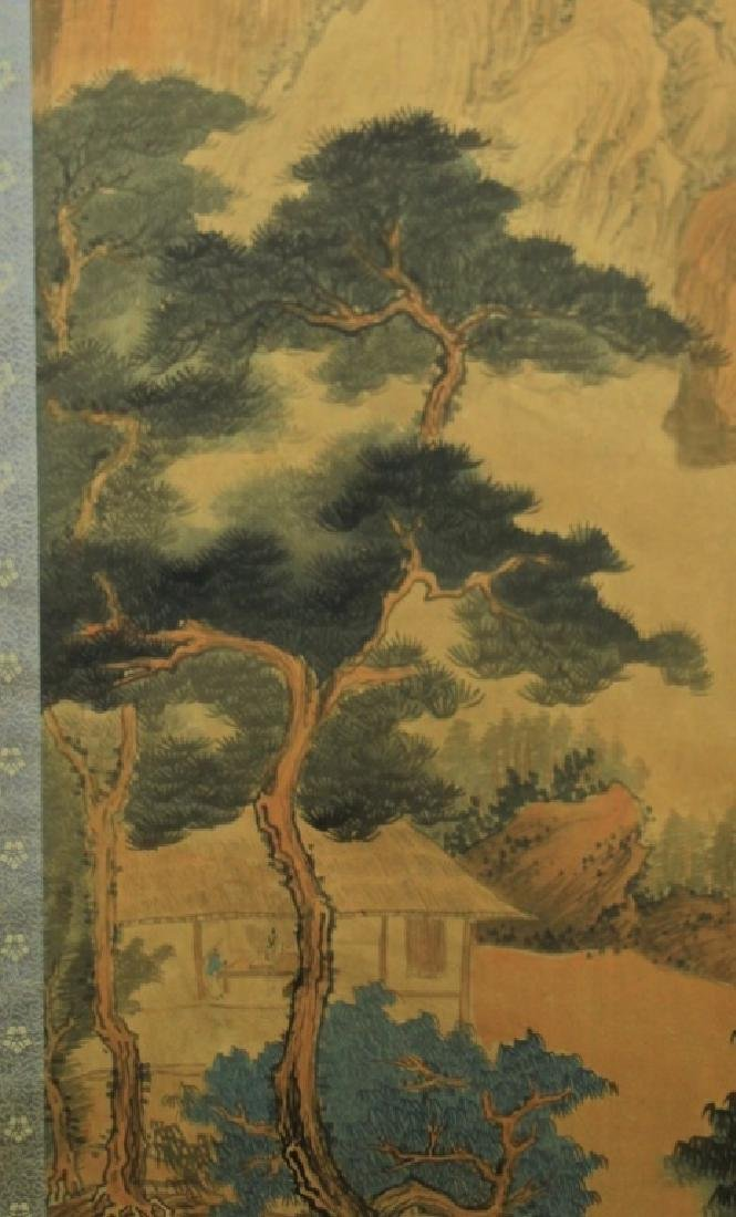 Chinese Scrolled Hand Painting Signed by Wang Yuan - 4