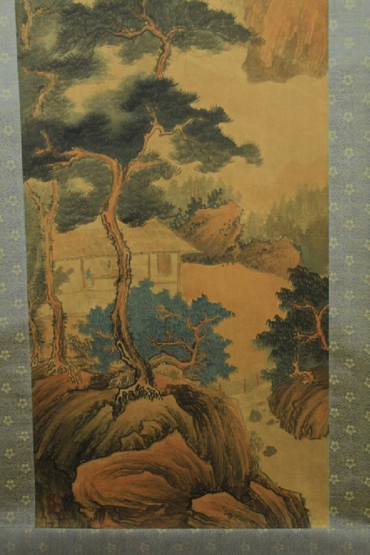 Chinese Scrolled Hand Painting Signed by Wang Yuan - 5