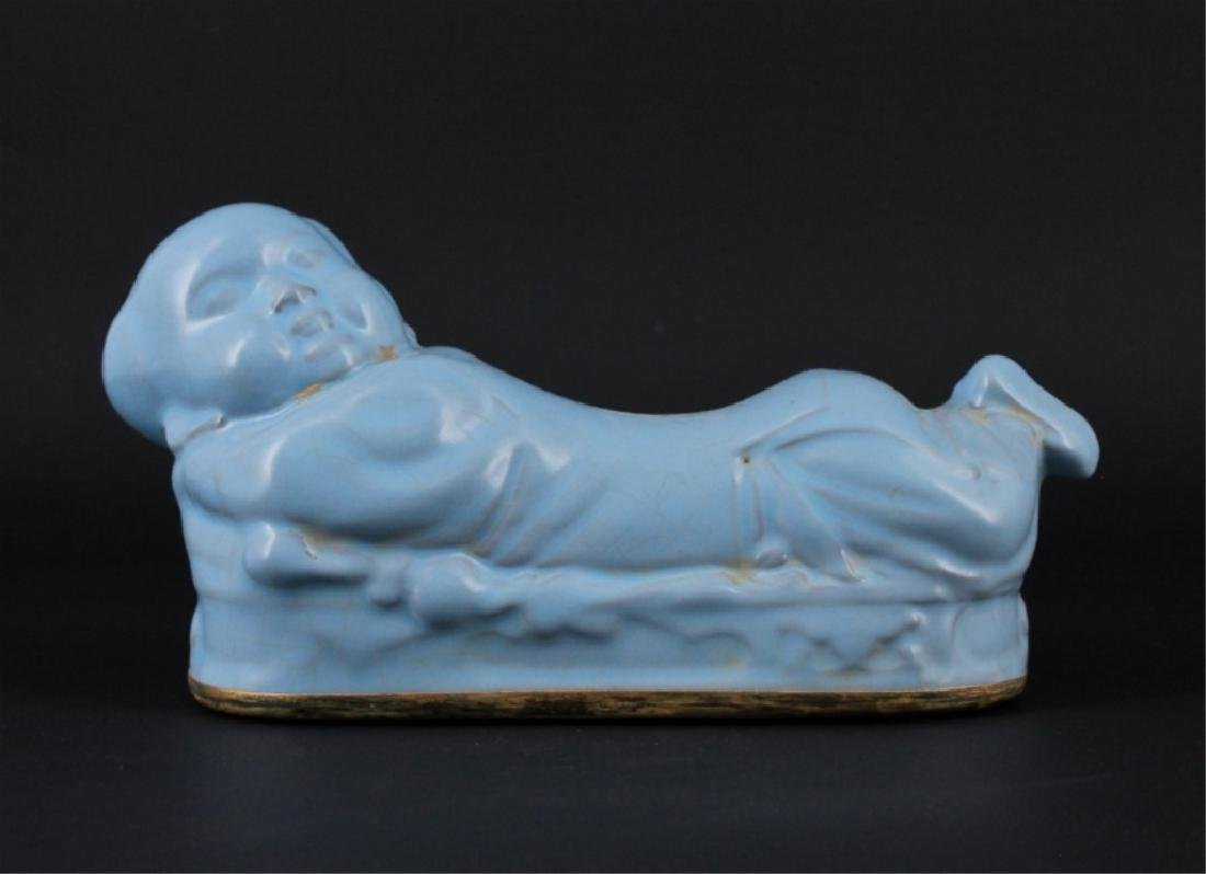 Chinese Song Porcelain RuYao Child Pillow - 2