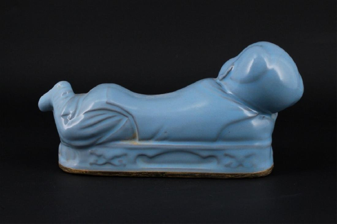Chinese Song Porcelain RuYao Child Pillow - 4
