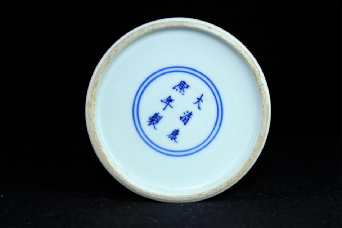Chinese Qing Porcelain Blue&White Peach Brush Pot - 4