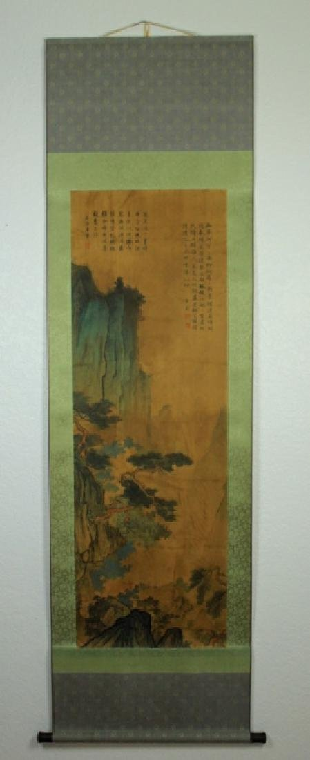 Chinese Scrolled Hand Painting Signed by Tang Yin - 2
