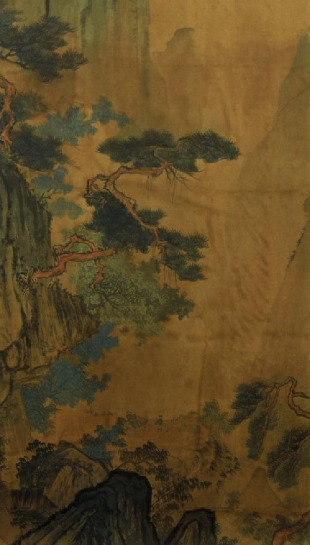 Chinese Scrolled Hand Painting Signed by Tang Yin - 6