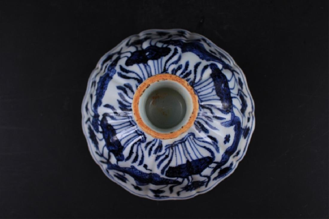 Chinese Ming Porcelain Blue&White Handle Cup - 3