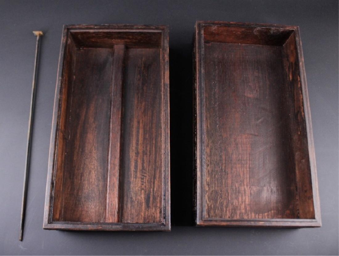 Chinese Qing Three-Layer Wooden Box - 4