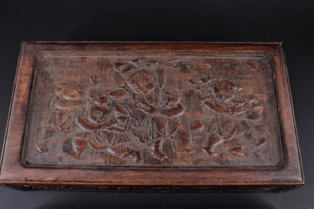 Chinese Qing Three-Layer Wooden Box - 6