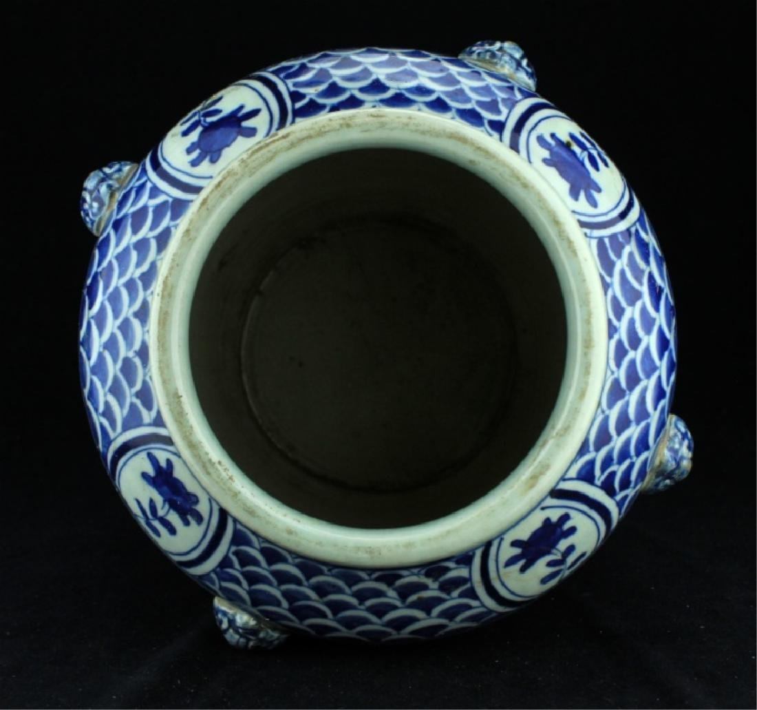 Chinese Qing Porcelain Blue&White Jar - 8