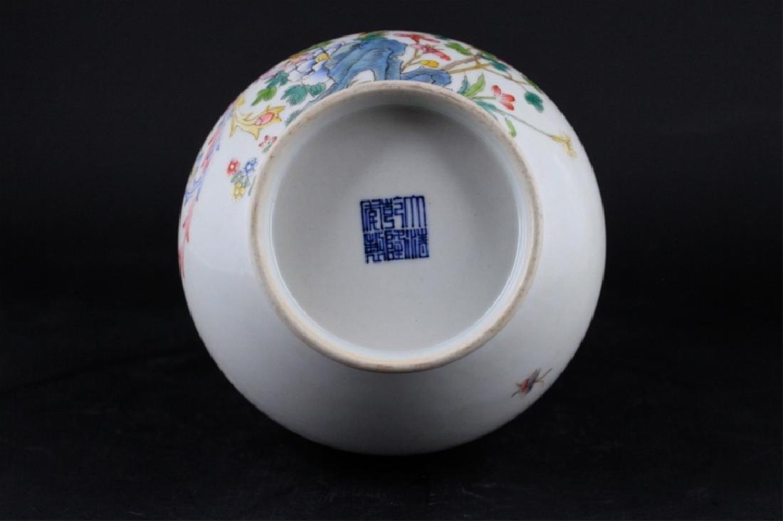 Chinese Qing Porcelain Famille Rose Vase - 7
