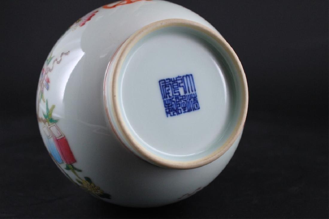 Chinese Qing Porcelain Famille Rose Vase - 6