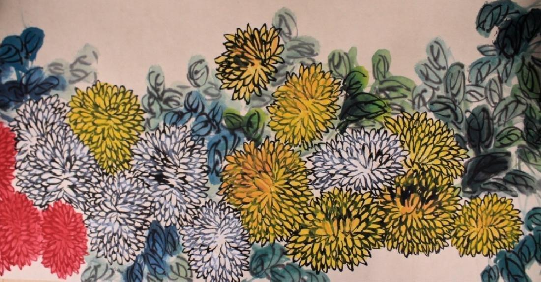 Long Scrolled Hand Painting by Qi Bai Shi - 4