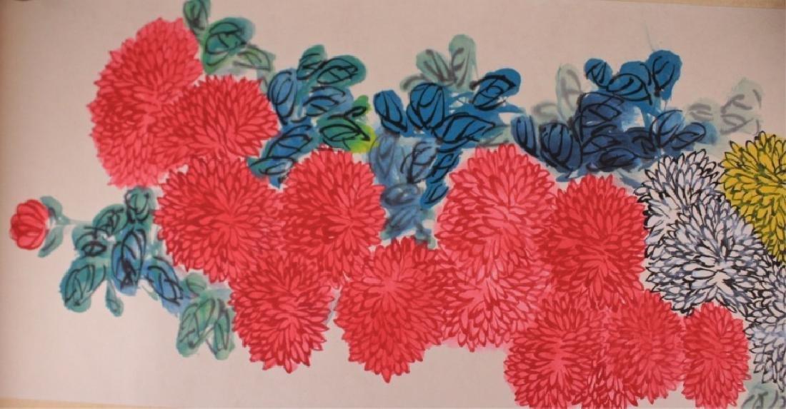 Long Scrolled Hand Painting by Qi Bai Shi - 5