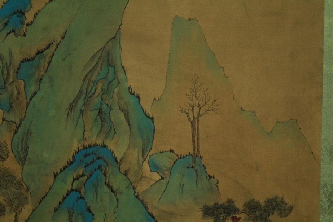 Chinese Scrolled Hand Painting Signed by Wen Zheng - 6