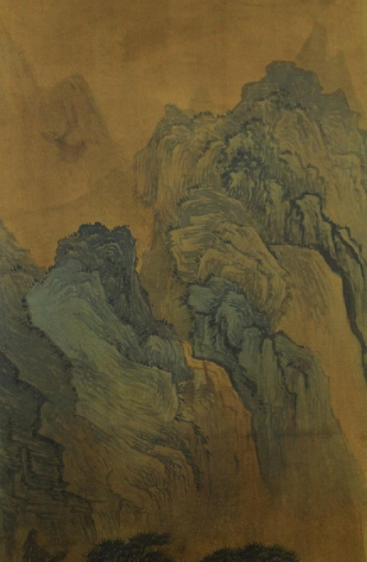 Chinese Scrolled Hand Painting Signed by Shen Zhou - 4