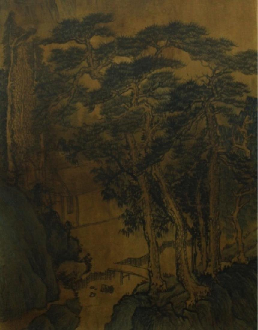 Chinese Scrolled Hand Painting Signed by Shen Zhou - 5