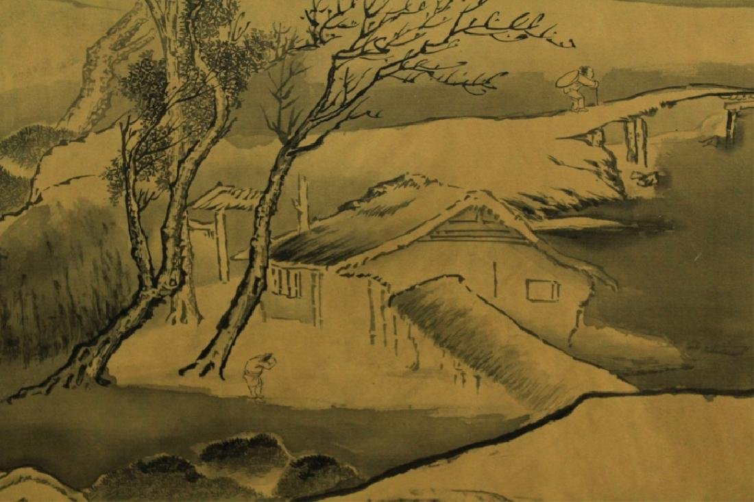 Chinese Scrolled Hand Painting Signed by Wang Yuan - 6