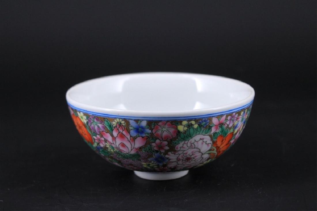 Chinese Qing Porcelain Hundred-Flower Bowl - 2
