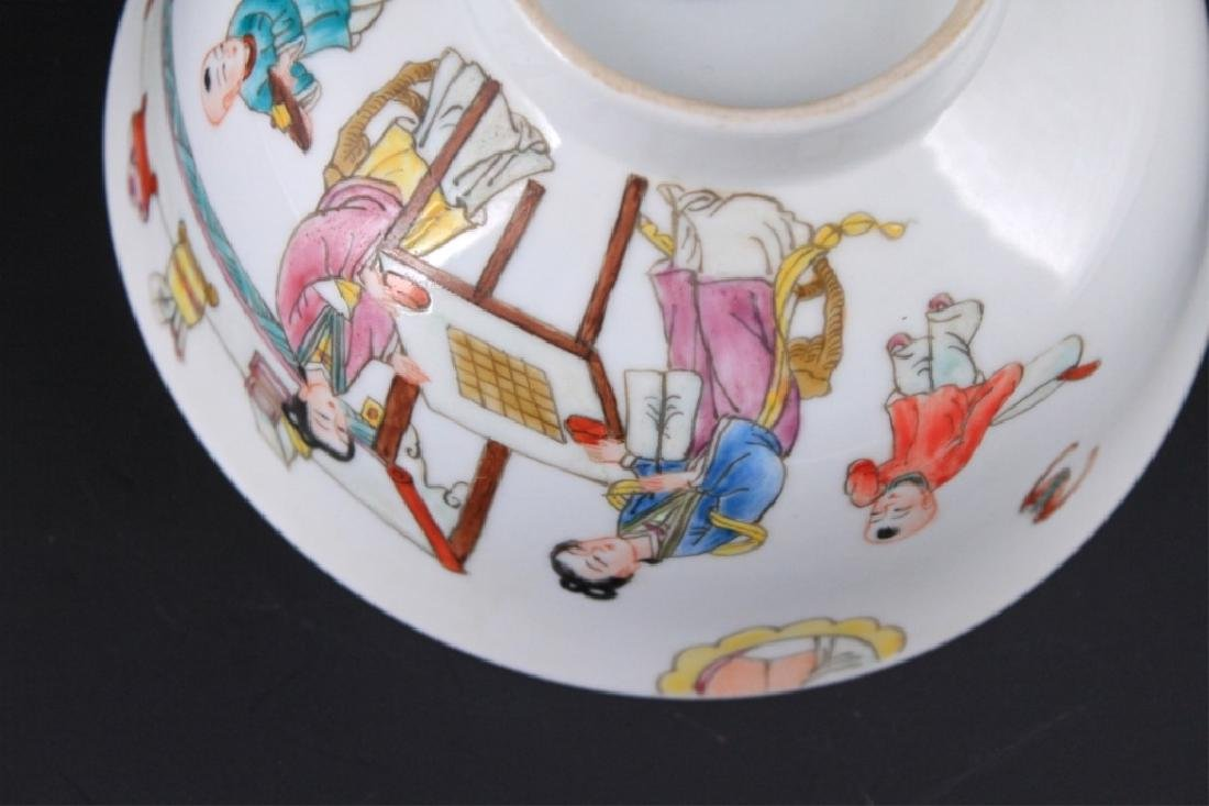 Chinese Qing Porcelain Famille Rose Bowl - 8