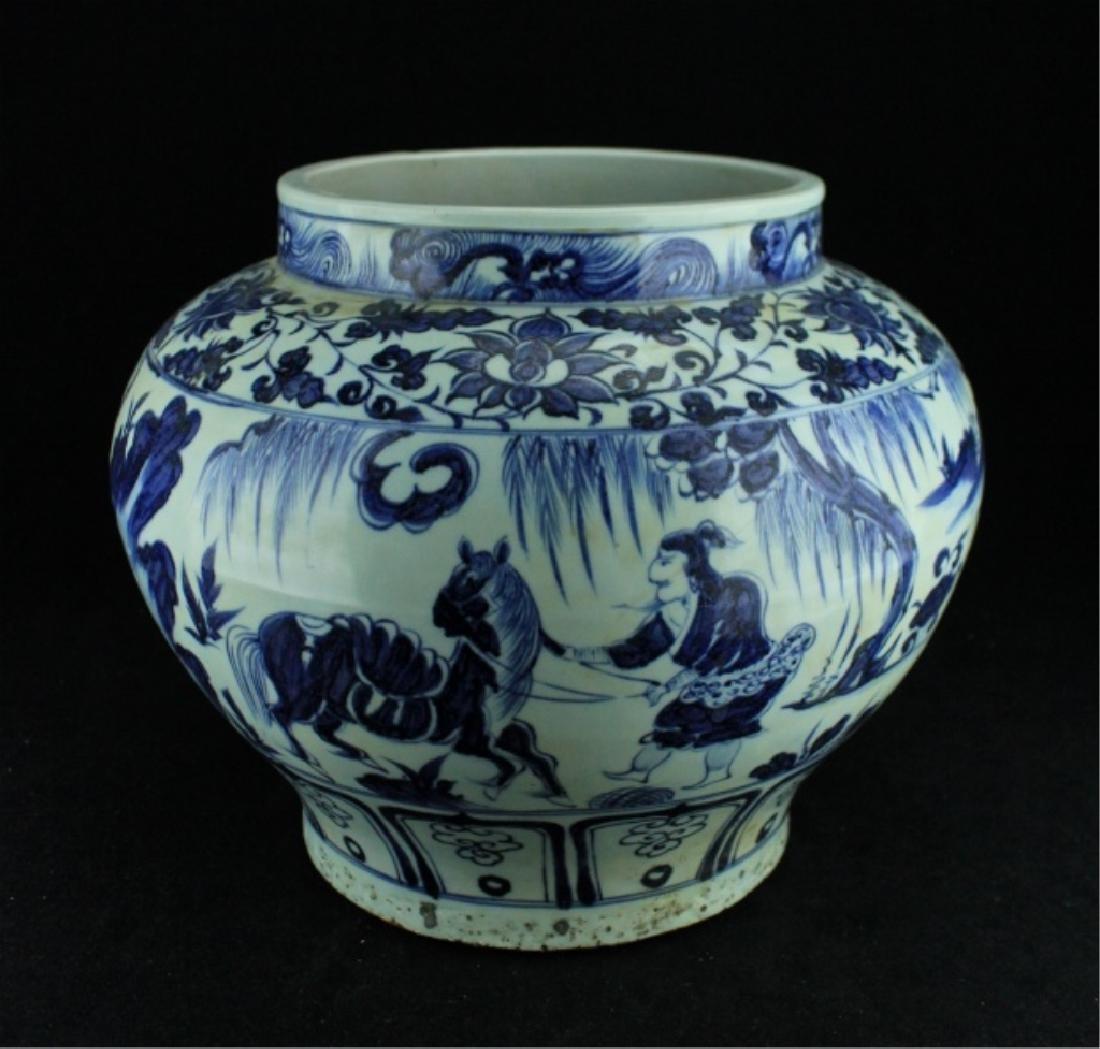 Large Chinese Ming Porcelain Blue&White Jar - 2