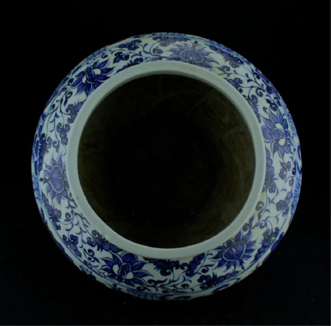 Large Chinese Ming Porcelain Blue&White Jar - 7