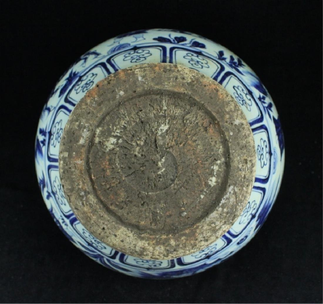 Large Chinese Ming Porcelain Blue&White Jar - 8