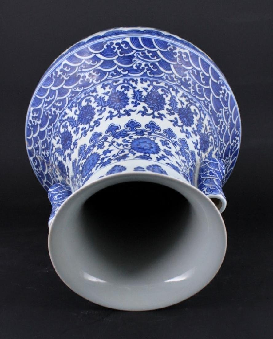 Large Chinese Qing Porcelain Blue&White Vase - 5