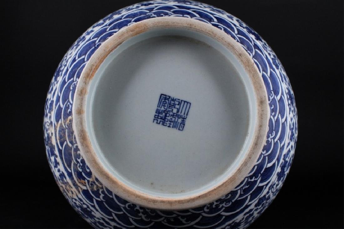 Large Chinese Qing Porcelain Blue&White Vase - 8