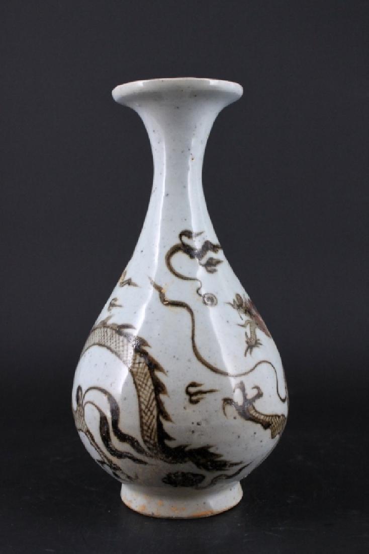 Chinese Ming Porcelain Red White Porcelain Vase - 4