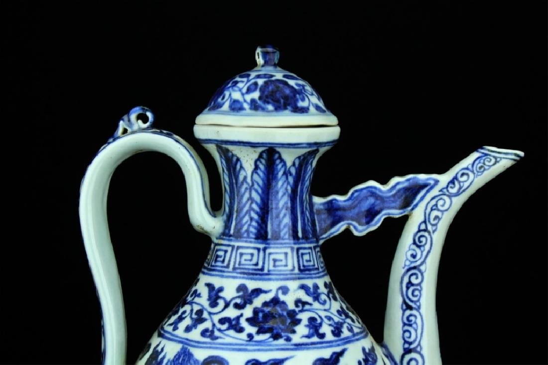 Large Chinese Ming Porcelain Blue&White TeaPot - 2