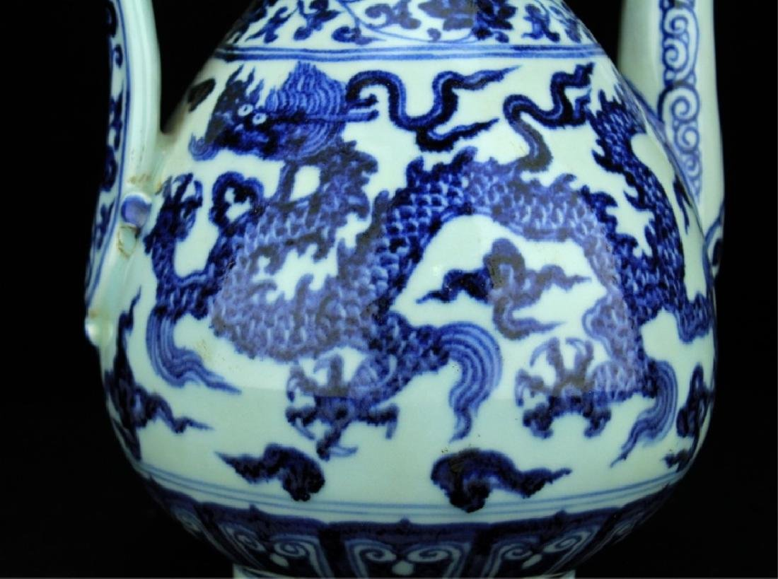 Large Chinese Ming Porcelain Blue&White TeaPot - 3