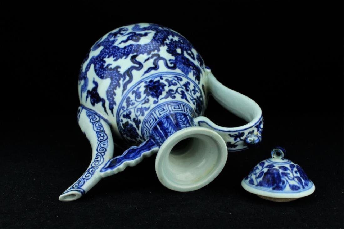 Large Chinese Ming Porcelain Blue&White TeaPot - 5
