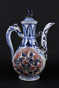 Chinese Ming Porcelain Porcelain TeaPot