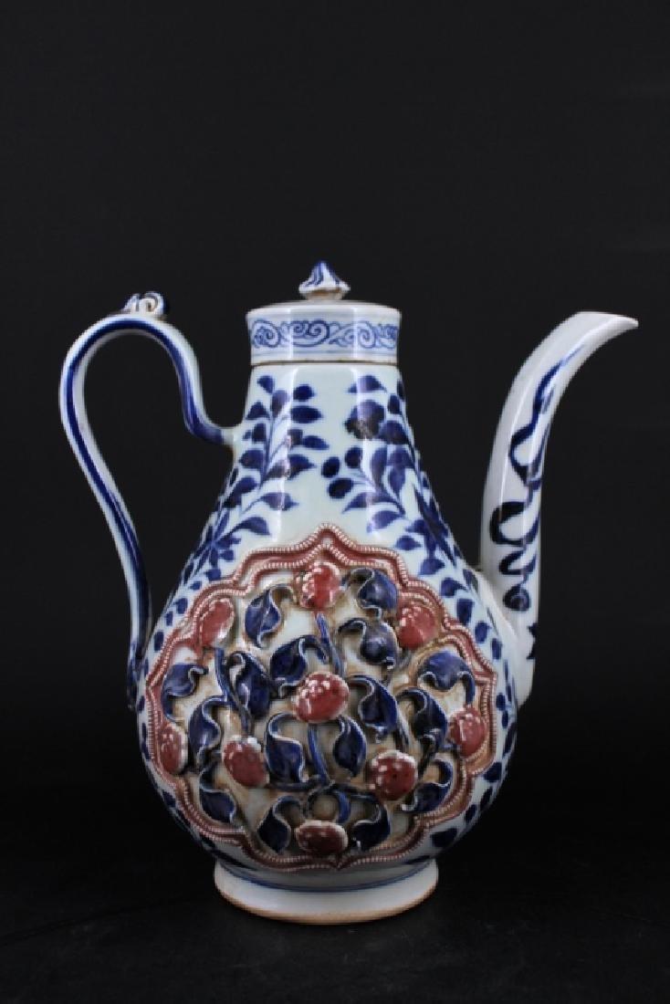 Chinese Ming Porcelain TeaPot