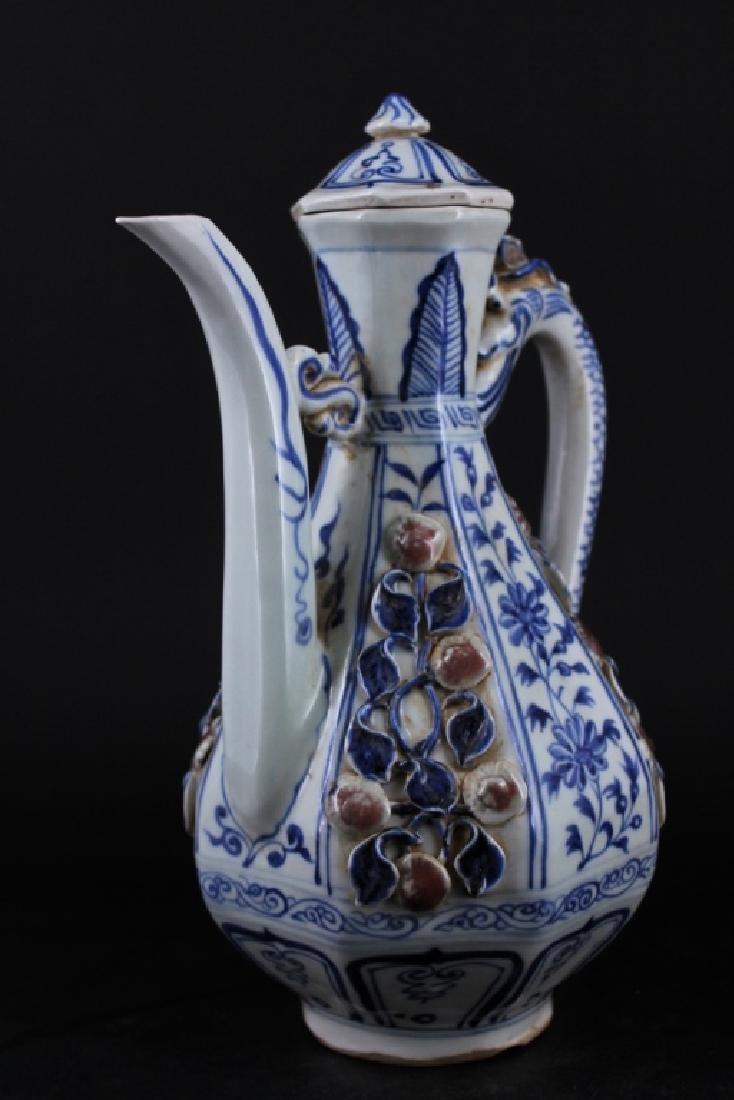 Chinese Ming Porcelain TeaPot - 3