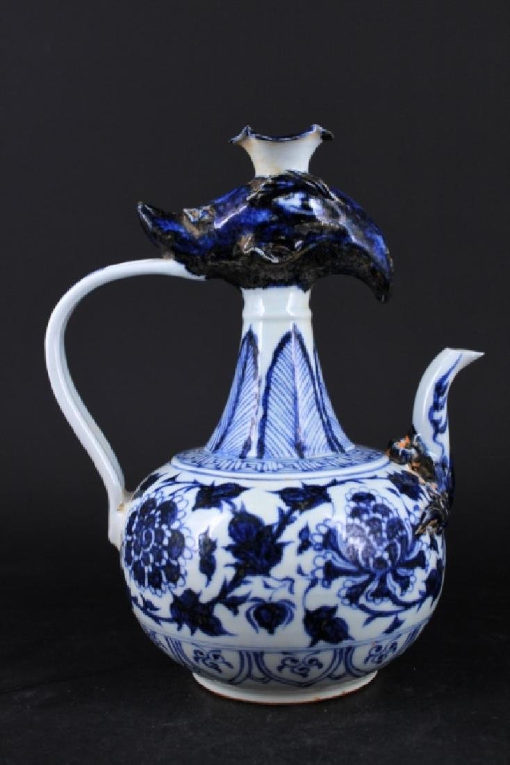 Chinese Ming Porcelain Blue&White Teapot