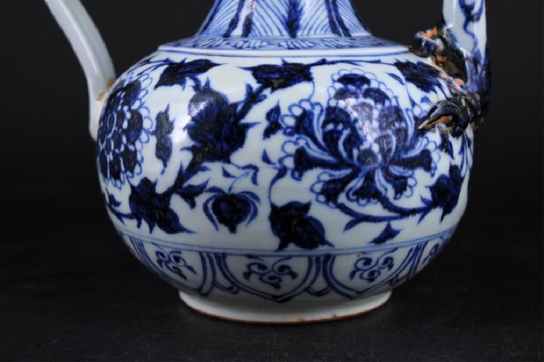 Chinese Ming Porcelain Blue&White Teapot - 3