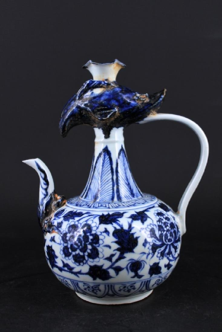 Chinese Ming Porcelain Blue&White Teapot - 5